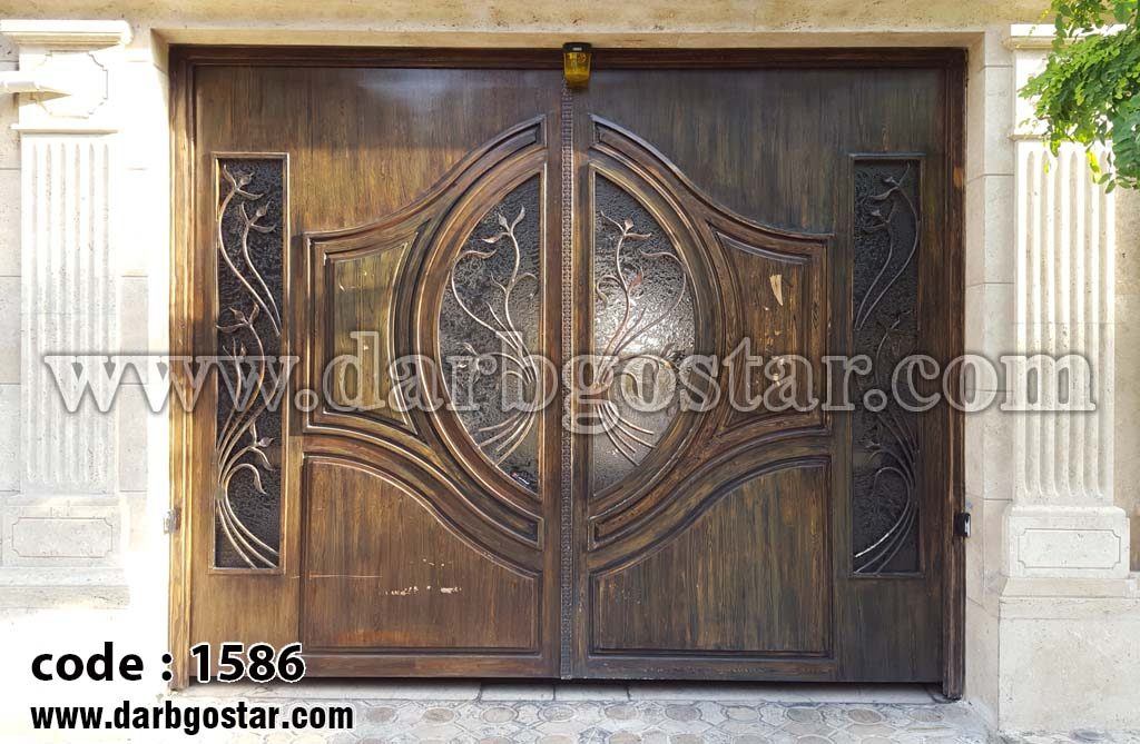 درب فلزی طرح چوب کد 1586