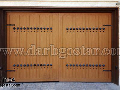 درب فلزی طرح چوب کد درب 1104