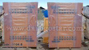 1104-B درب فلزی طرح چوب