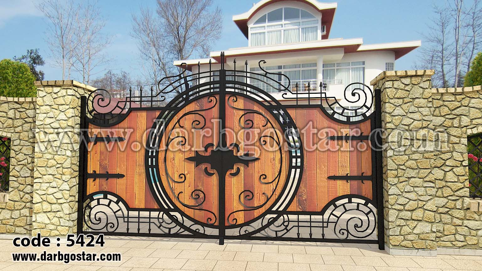 درب خاص-درب ویلا کد درب 5424