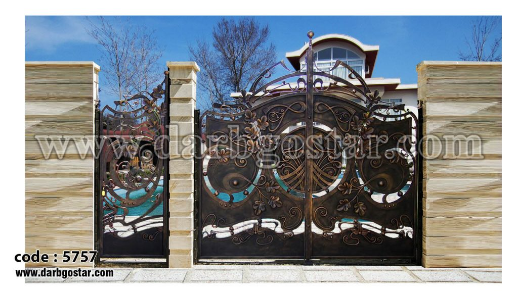 درب ویلا دروازه حیاط کد 5757درب ویلا دروازه حیاط کد 5757