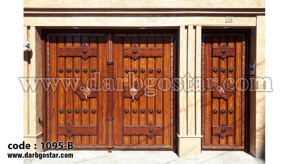 1095-B درب فلزی طرح چوب