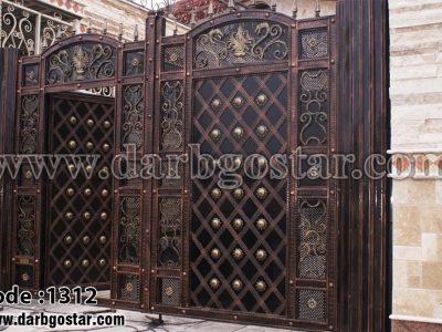درب توامان درب فرفورژه کد 1312