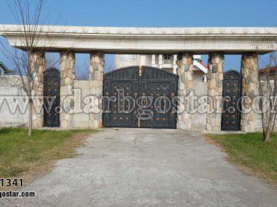 درب شیک درب ساختمان درب فرفورژه درب هخامنشی کد 1341