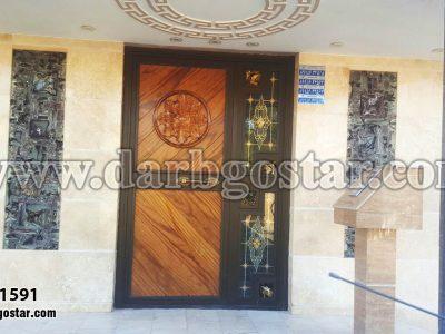 درب فلزی طرح چوب 1591