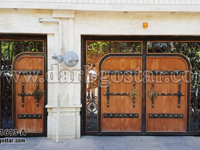 1613-A درب فلزی طرح چوب