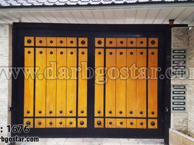 درب تلفیقی زیبا درب گستر کد 1676