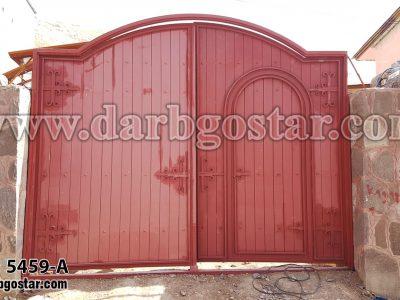 5459-A درب فلزی طرح چوب