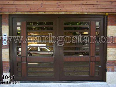 درب فلزی طرح چوب کد درب 1040