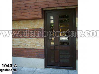 1040-A درب فلزی طرح چوب