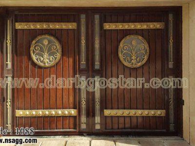 درب فلزی طرح چوب کد درب 1088