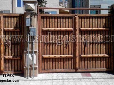درب فلزی طرح چوب کد درب 1093