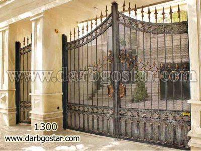 درب فرفورژه ساختمان کد درب 1300