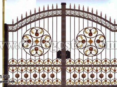 دروازه حیاط فرفورژه کد درب 1471