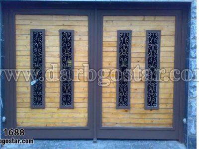 درب تلفیقی چوبی و فلزی کد درب 1688