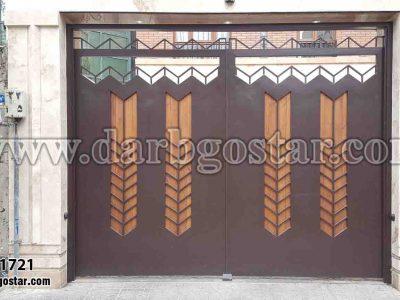 درب فلز با چوب کد درب 1721