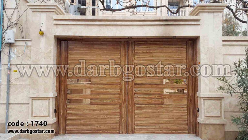 درب فلزی طرح چوب کد درب 1740