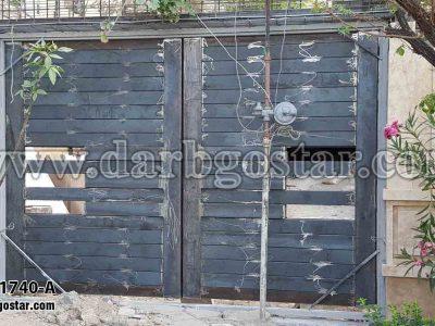1740-A درب فلزی طرح چوب