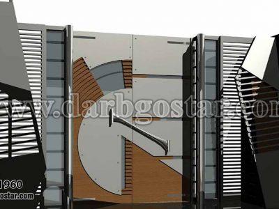 طراحی درب ساختمان کد درب 1960