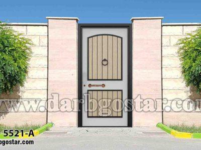 5521-A درب فلزی طرح چوب