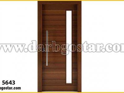 درب فلزی طرح چوب کد درب 5643