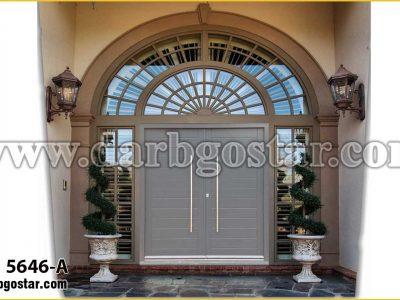 5646-A درب ساختمان درب فلزی