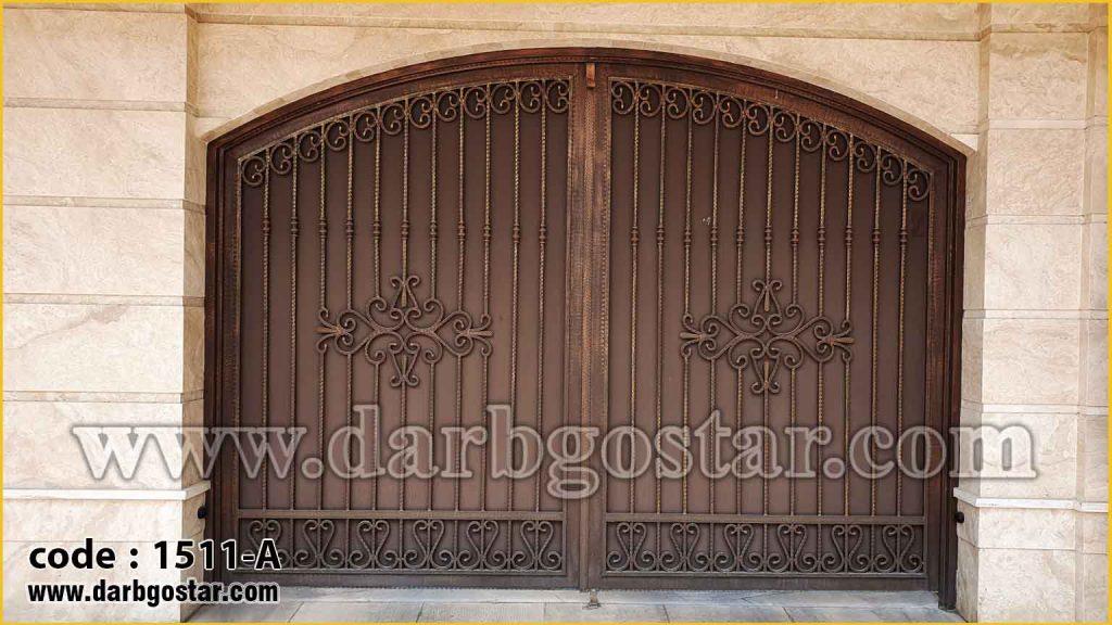 1511-A درب پارکینگ ایمن مثل درب کاخ