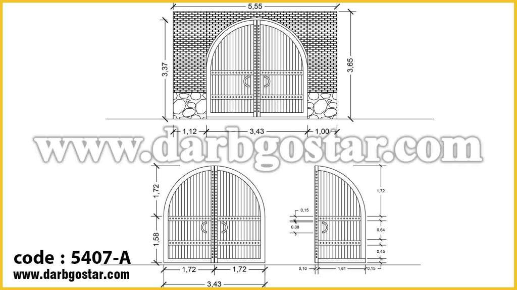 5407-A طراحی درب ساختمان