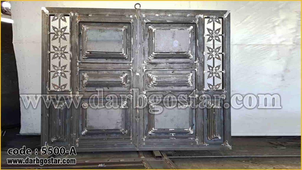 5500-A درب فلزی طرح چوب