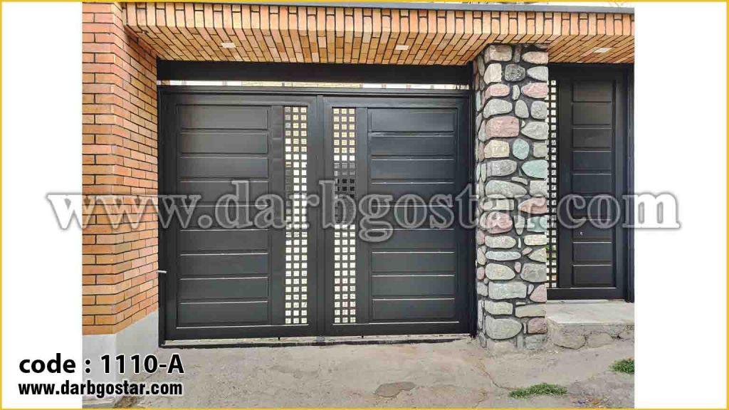 1110-A درب پارکینگ فلزی