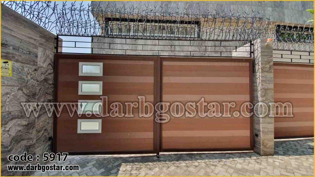 درب فلزی و چوب پلاست کد درب 5917