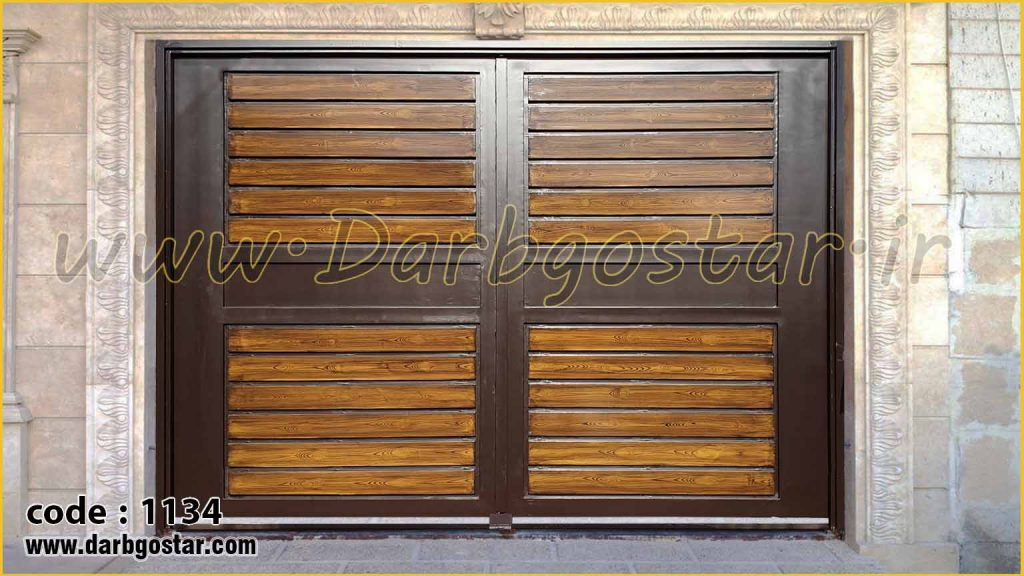 درب حیاط طرح چوب درب کد 1134
