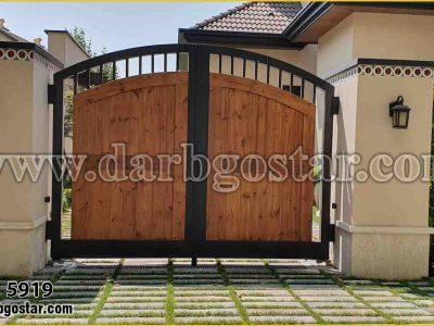 درب تلفیقی فلز و چوب کد درب 5919