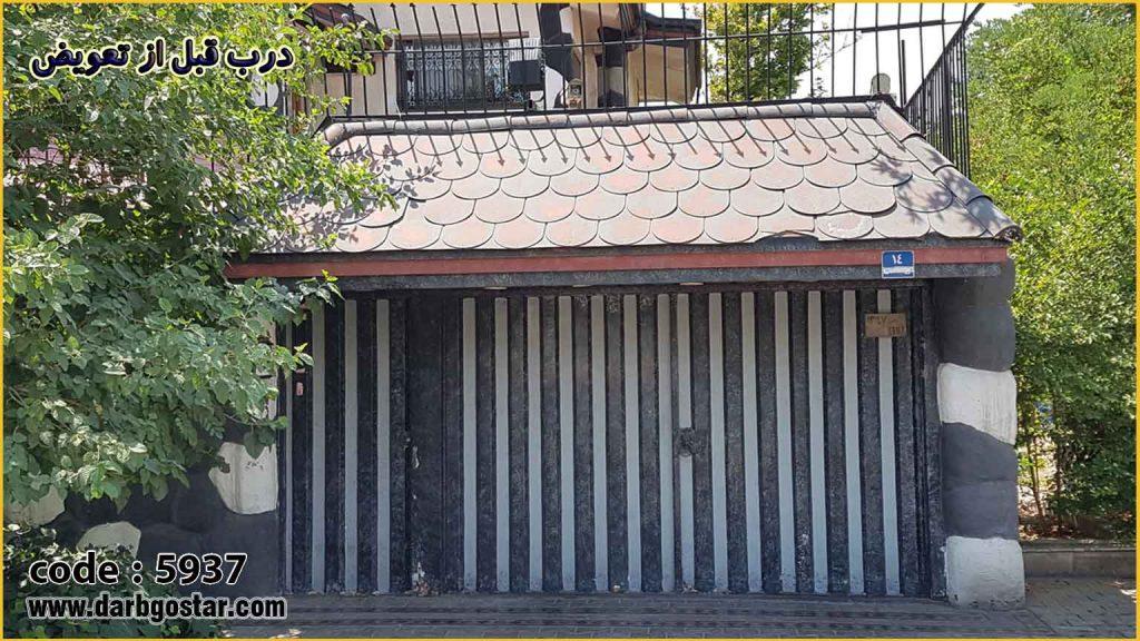 درب فلزی ساختمان تعویض درب کد درب 5937