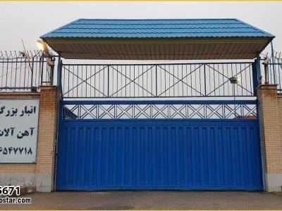 درب انبار و کارخانه با ورق ذوزنقه کد 5671
