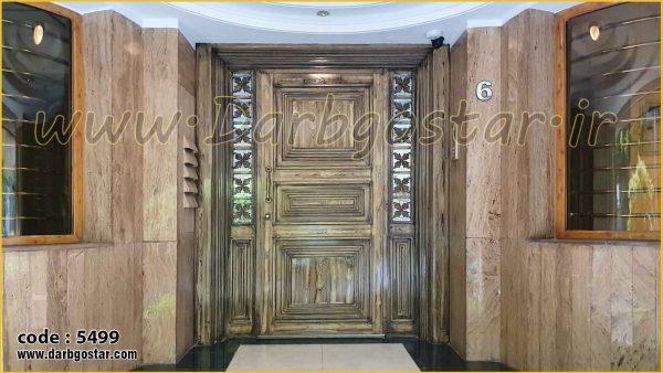 تعویض درب ورودی ساختمان کد درب 5499